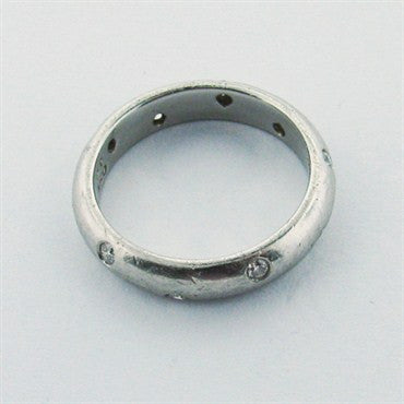 thumbnail image of Estate Tiffany &Co Etoile Platinum Diamond Wedding Ring