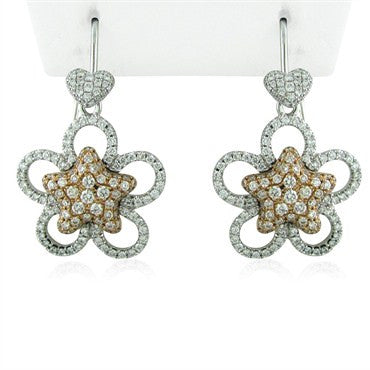 image of New Simon G 18K Gold Star Diamond Earrings