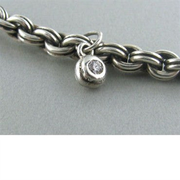 thumbnail image of Scott Kay Sterling Diamond Heart Toggle Bracelet