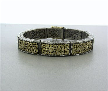 thumbnail image of Konstantino Sterling Silver 18k Yellow Gold Bracelet