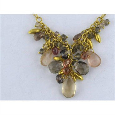 thumbnail image of New Gurhan 24k Gold Gem Stone Necklace