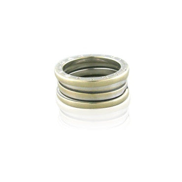 thumbnail image of Estate Bulgari Bvlgari B. Zero 18k White Gold Band Ring Size 52