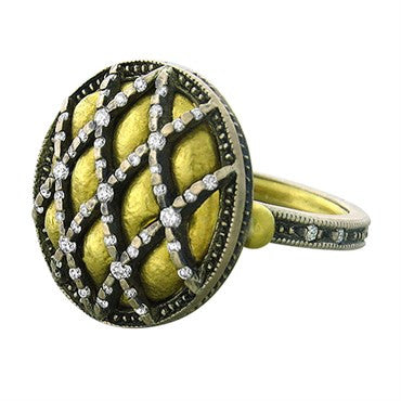 thumbnail image of Gurhan Capitone 24k Gold Diamond Ring
