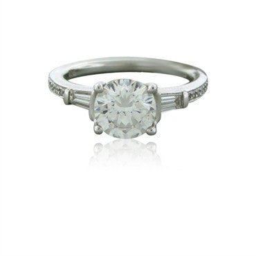 image of New Ritani 18K White Gold Diamond Engagement Ring Setting