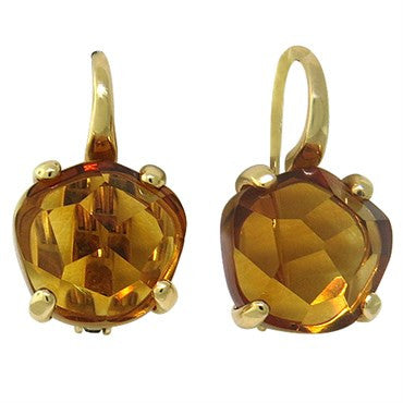 image of New Pomellato Lola 18k Gold Madeira Citrine Earrings