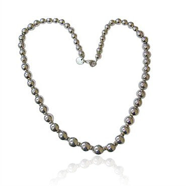image of Estate Tiffany & Co Sterling Bead Necklace