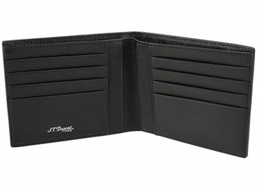 thumbnail image of ST Dupont Black Textured Leather Contraste Wallet 074124