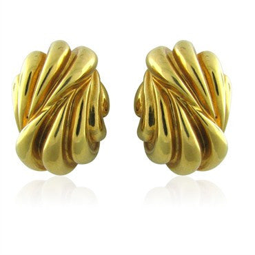 image of Tiffany & Co 18K Gold Vintage Earrings