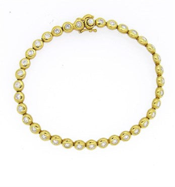 image of Tiffany & Co. 2.20ctw Diamond 18k Gold Bracelet