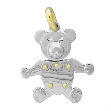image of New Pomellato Orsetto 18k Gold Stainless Steel Bear Movable Pendant
