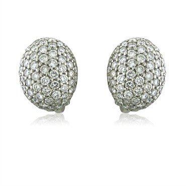 image of New Roberto Coin 18K White Gold 6.20ctw Diamond Fantasia Earrings