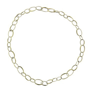 image of Pomellato 18k Gold Oval Link Chain Necklace