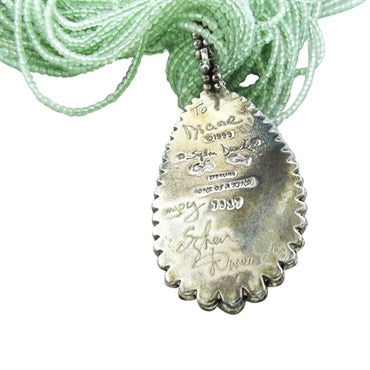 image of Stephen Dweck OOAK Sterling Silver Green Gemstone Pendant Necklace