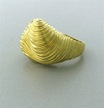 thumbnail image of Estate Henry Dunay 18K Yellow Gold Wave Ring