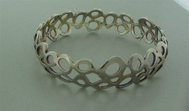 thumbnail image of Robert Lee Morris RLM Sterling Silver Bangle Bracelet