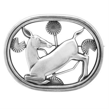 image of Georg Jensen Sterling Silver Brooch Pin Number 256