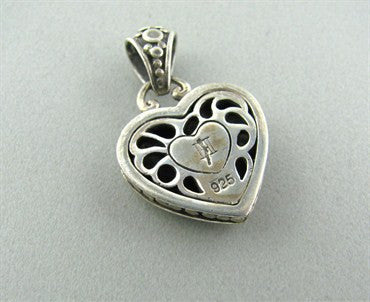 thumbnail image of Estate John Hardy Sterling Silver Heart Pendant