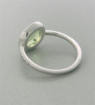 image of Pomellato Colpo Di Fulmine 18K White Gold Diamond Peridot Ring
