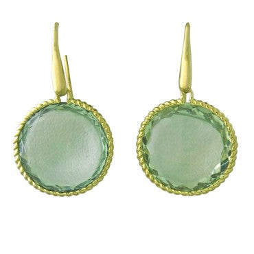 image of Roberto Coin Ipanema Green Amethyst Earrings
