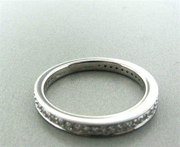 thumbnail image of New Hearts On Fire Identity Platinum Milgrain Band Ring
