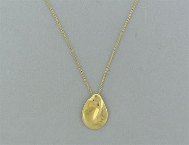 thumbnail image of Tiffany & Co Elsa Peretti Madonna 18K Gold Pendant Necklace