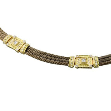image of New Charriol Celtique 18K Gold 0.71ct Diamond Necklace