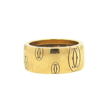 image of Cartier 18k Yellow Gold Wide 7.8mm Band Ring Size 52