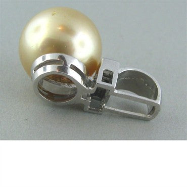 image of Estate South Sea 14mm Pearl Diamond Pendant