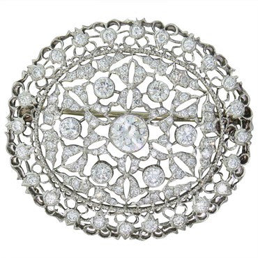 image of Buccellati 2.50ctw Diamond Gold Brooch Pin Pendant