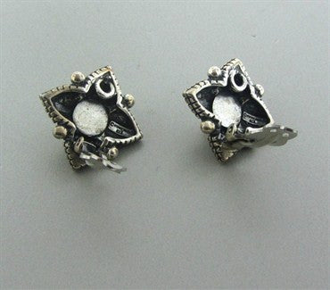 image of Stephen Dweck Sterling Silver Pearl Earrings