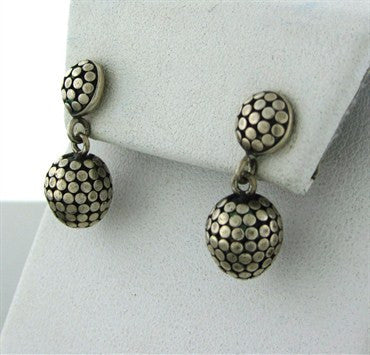 thumbnail image of Estate John Hardy Dots Sterling Silver Drop Earrings