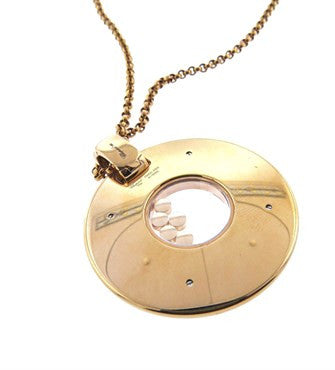 image of Chopard Floating Diamond 18K Rose Gold Chopardissimo Pendant Necklace