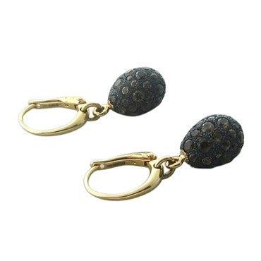 image of Pomellato Tabou 18K Gold Burnished Silver Smokey Topaz Drop Earrings