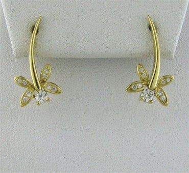 image of Hearts On Fire Potpourri Dragon Fly Diamond Earrings