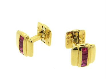 thumbnail image of Tiffany & Co. Ruby 18k Gold Cufflinks