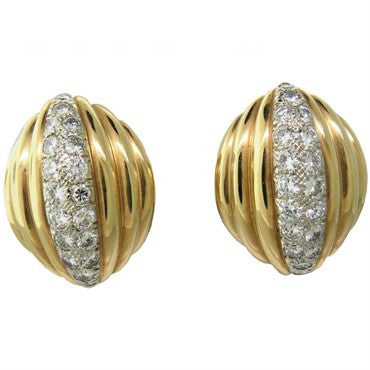 image of Hammerman Brothers Diamond 14K Gold Earrings