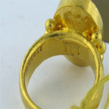 thumbnail image of New Gurhan 24k Gold Intaglio Ring