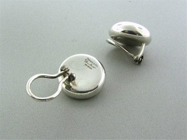 thumbnail image of Tiffany & Co Elsa Peretti Sterling Silver Round Earrings