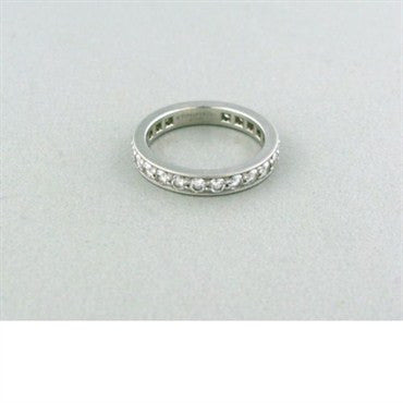 thumbnail image of Tiffany & Co Platinum 1.21ctw Diamond Wedding Band Ring
