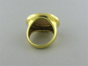 image of Vintage Tiffany & Co 18K Yellow Gold Pearl Ring
