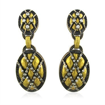 image of New Gurhan Capitone Collection 24K Gold Diamond Earrings