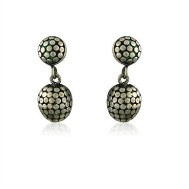 image of Estate John Hardy Dots Sterling Silver Drop Earrings