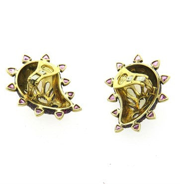 thumbnail image of Marilyn Cooperman Multicolor Gemstone Silver 18k Gold Earrings
