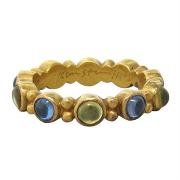 thumbnail image of Reinstein Ross 22k Gold Sapphire Renaissance Stackable Ring