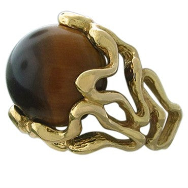 thumbnail image of Gilbert Albert 18K Gold Interchangeable 5pc Color Gemstone Bead Ring