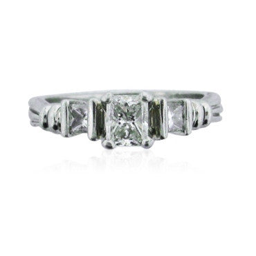 thumbnail image of Scott Kay Platinum Cut Diamond Engagement Ring