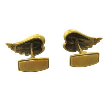 thumbnail image of 1970s Kieselstein Cord Gold Wings Cufflinks