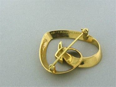 thumbnail image of Vintage Tiffany & Co Paloma Picasso 18K Yellow Gold Heart Brooch Pin