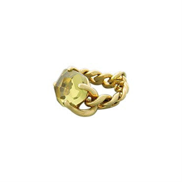 thumbnail image of New Pomellato Lola 18k Gold Lemon Citrine Ring