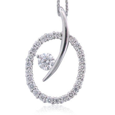 image of Hearts On Fire 18k Gold 0.75ct Diamond Circle Pendant